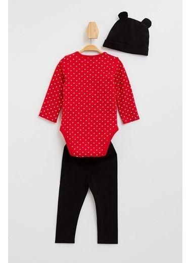 DeFacto Mickey & Mouse Lisanslı Set Kırmızı